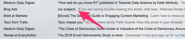 Email mistake example screenshot