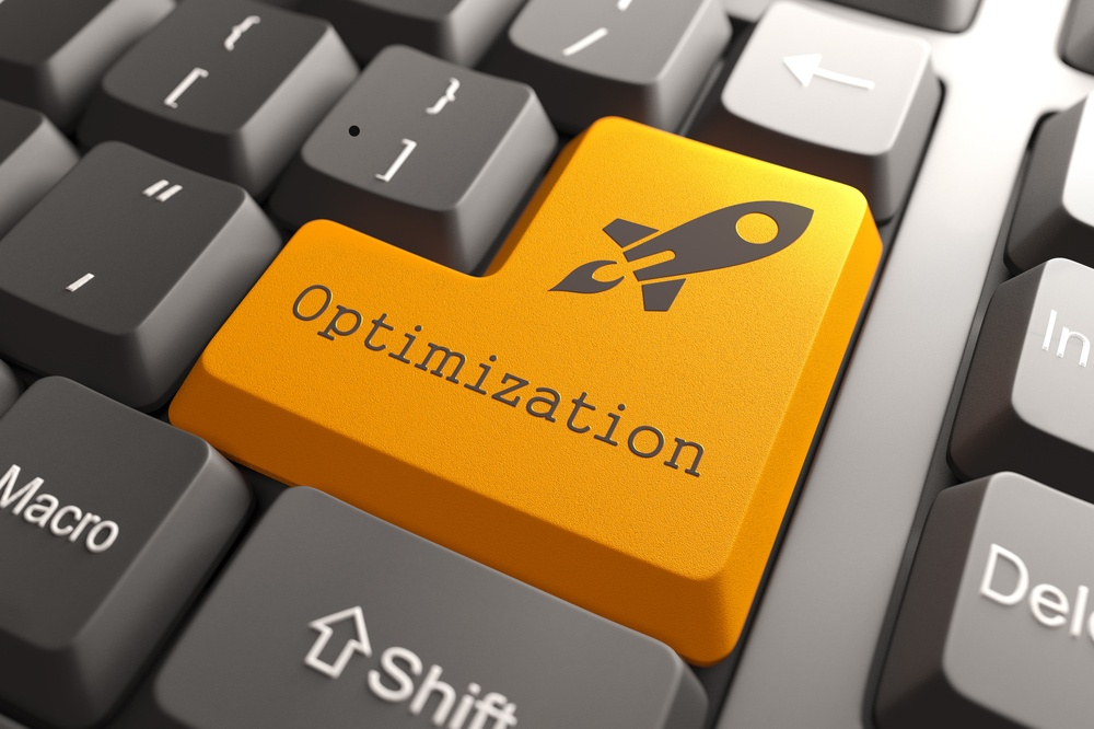 Orange Optimization Button on Computer Keyboard. Business Concept..jpeg